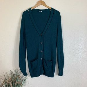 Fossil Green Knit Button Down Cardigan